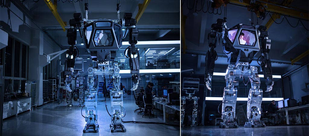 Two different views of the Hankook Mirae Method-2 Robot Suit
