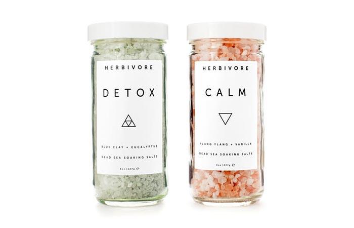 Herbivore detox and calm bath salts