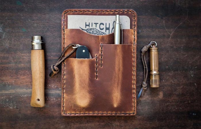 a leather edc holder