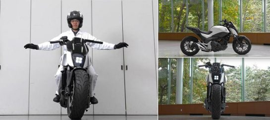 Honda's Self-Balancing Motorcycle | A Motorcycle That Follows You Around