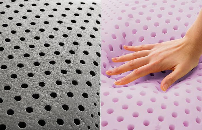 two images of Malouf Zoned Dough Pillow