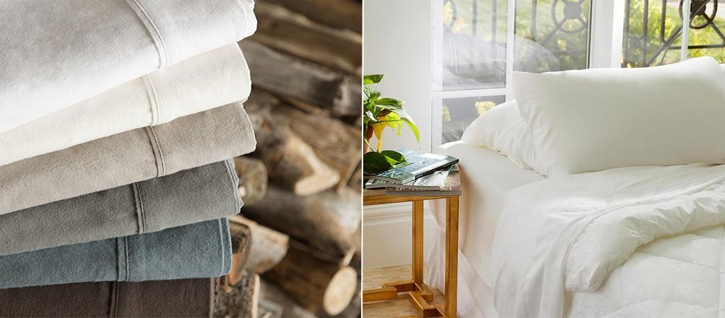Malouf Heavyweight Flannel Sheets And Zoned Dough Pillow