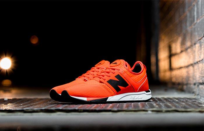 orange new balance 247 sport shoes