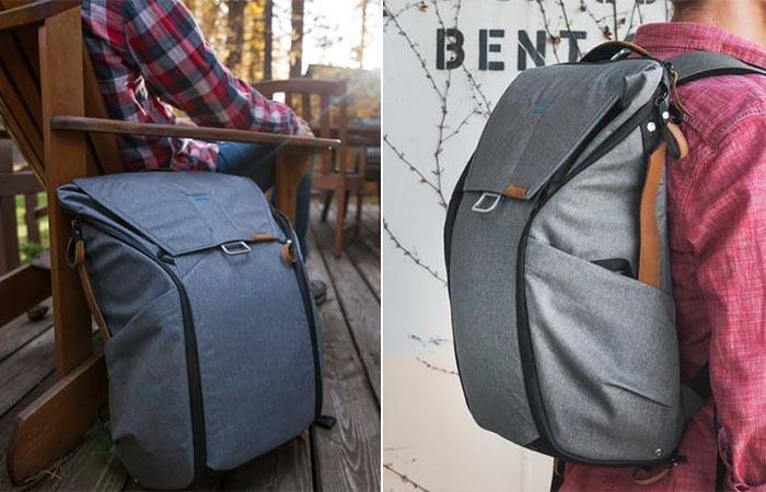 two images of Peak Design backpack