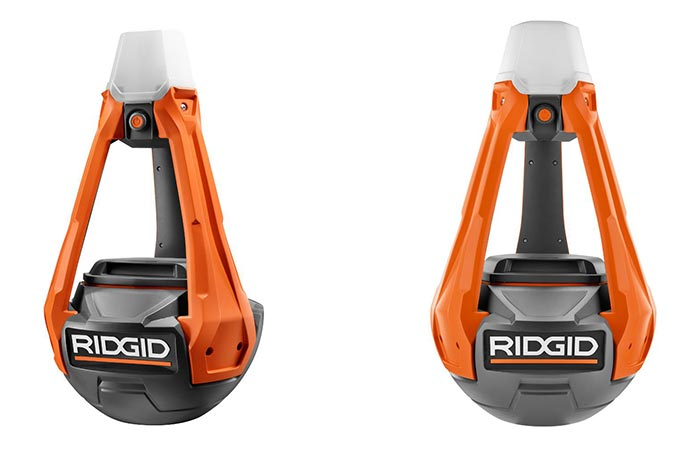 Two different views of the RidGid GEN5X Hybrid Upright Area Light