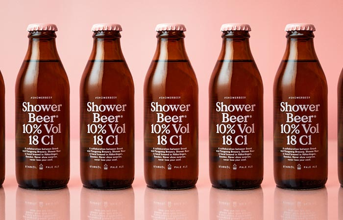 Row of Snask Shower Beer