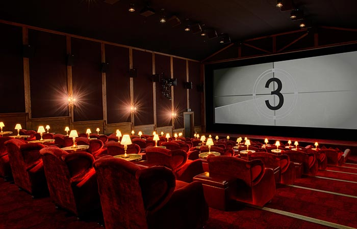 cinema room in Soho Farmhouse