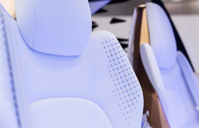 Close up of the Concept-i's seats