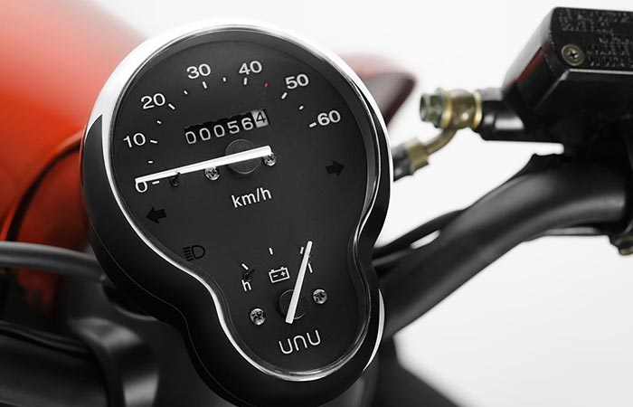 Unu Motors Scooter speedometer