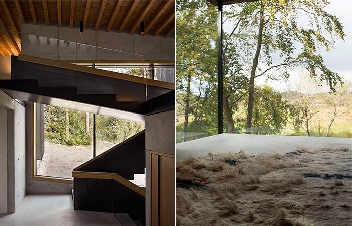 two images of Villa Meijendel interior