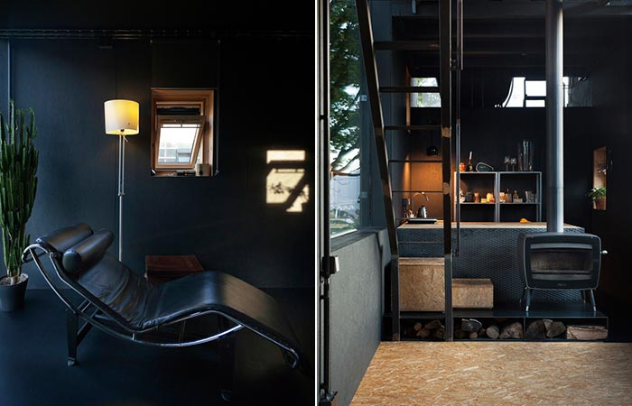two images of Zen Houses living area