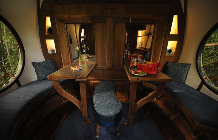 sitting area in Free Spirit Sphere