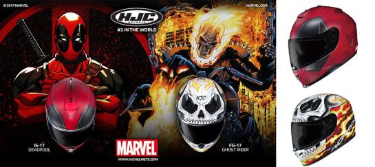 HJC Helmets Deadpool And Ghost Rider Editions