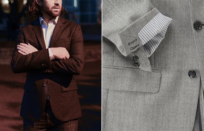 two images of blazers