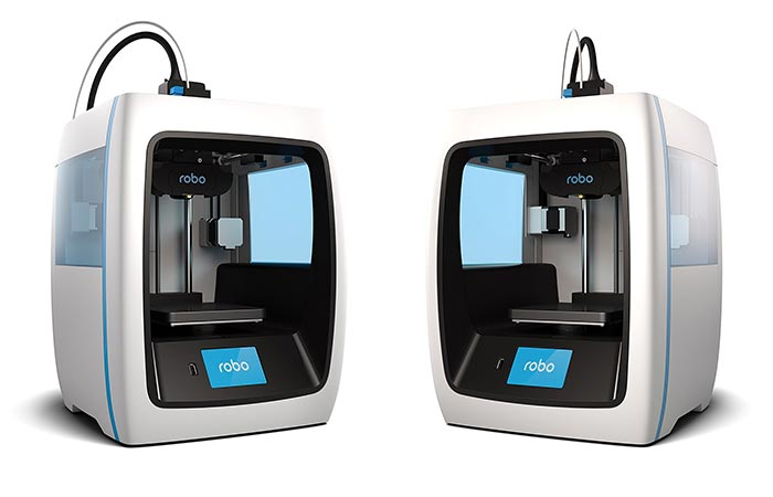 Two different views of the Robo 3D Printer C2