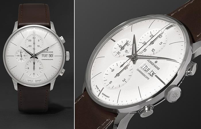 Two different views of the Junghans Meister Chronoscope