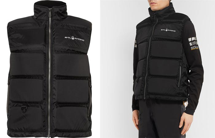 Two different views of the Sail Racing Floatation Vest