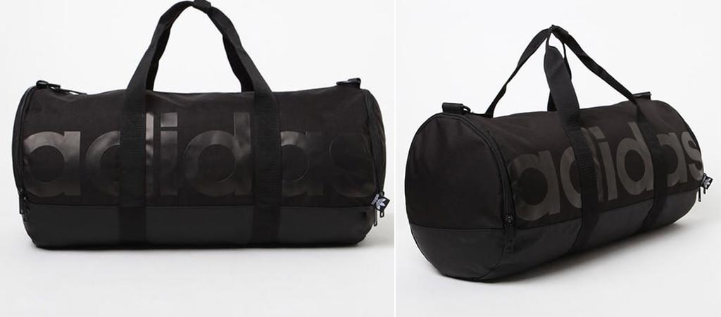 Two different views of the Adidas Santiago Roll Duffel Bag