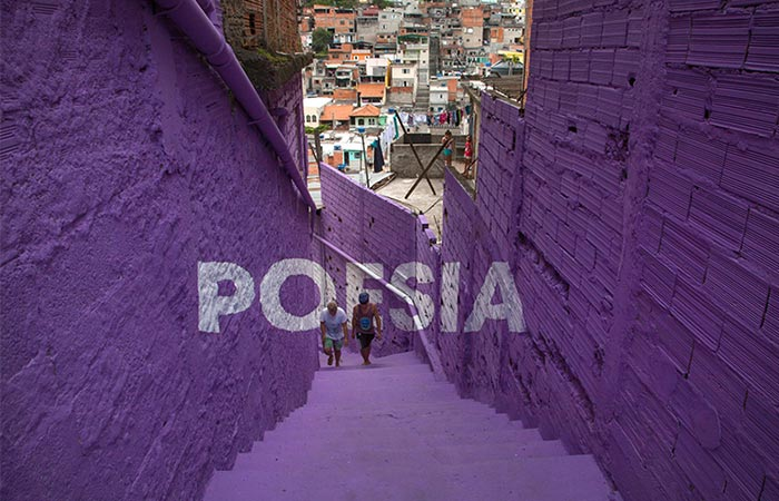 purple alley after painting