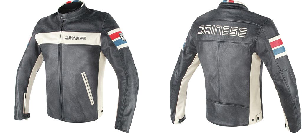Front and back view of the Dainese HF D1 Leather Jacket