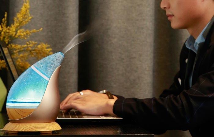 Man using ELF while working