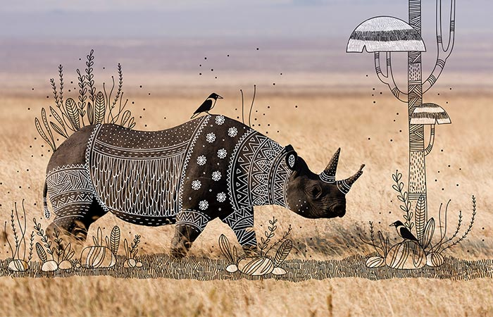 doodles on a rhinoceros