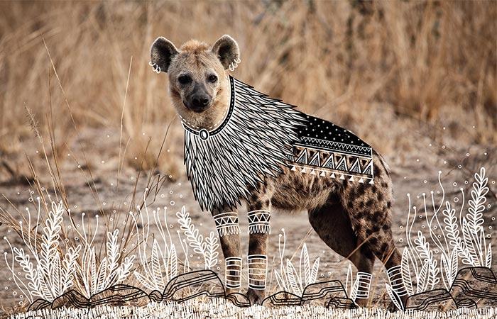 doodles on hyena
