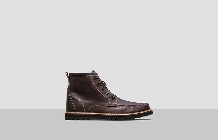 brown eather boot from the side
