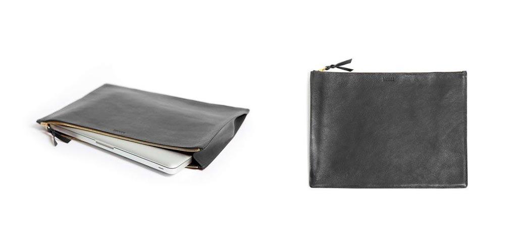 Lotuff Black Leather Portfolio