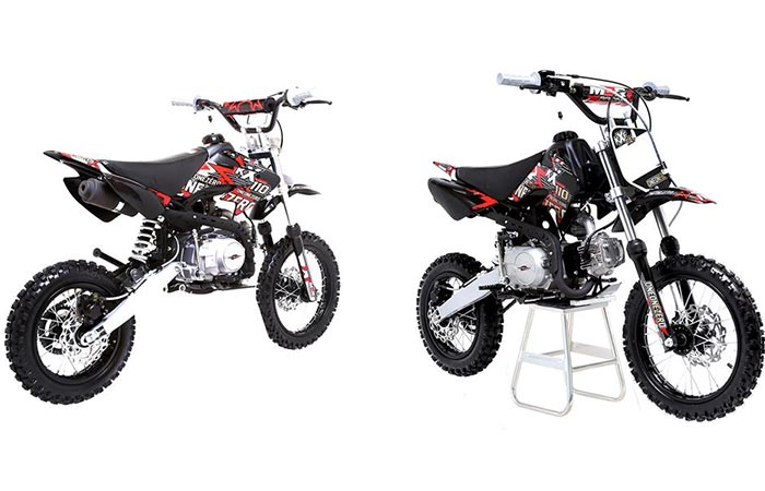 Two different views of the M2R Racing Pit Bike