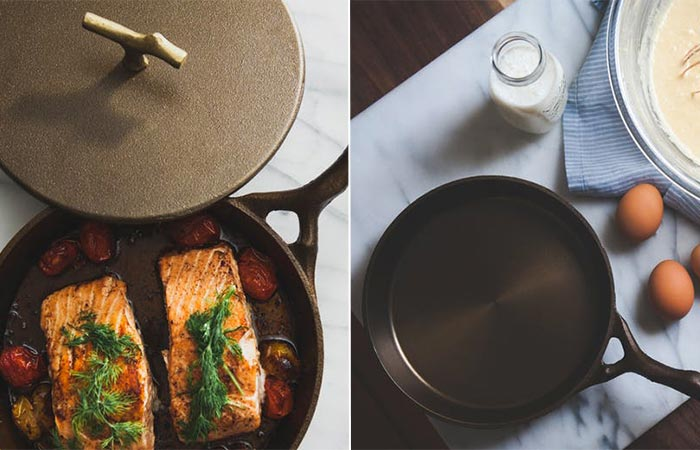 Two images of Nest Homeware skillet