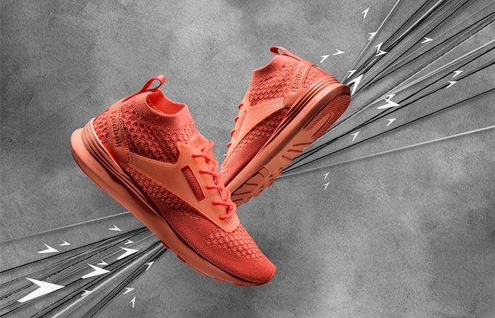 red Reebok Zoku Runner shoes
