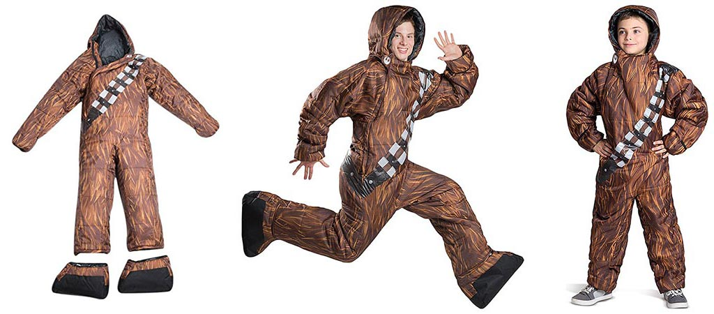 Three different views of the Selk'bag Star Wars Chewbacca Edition