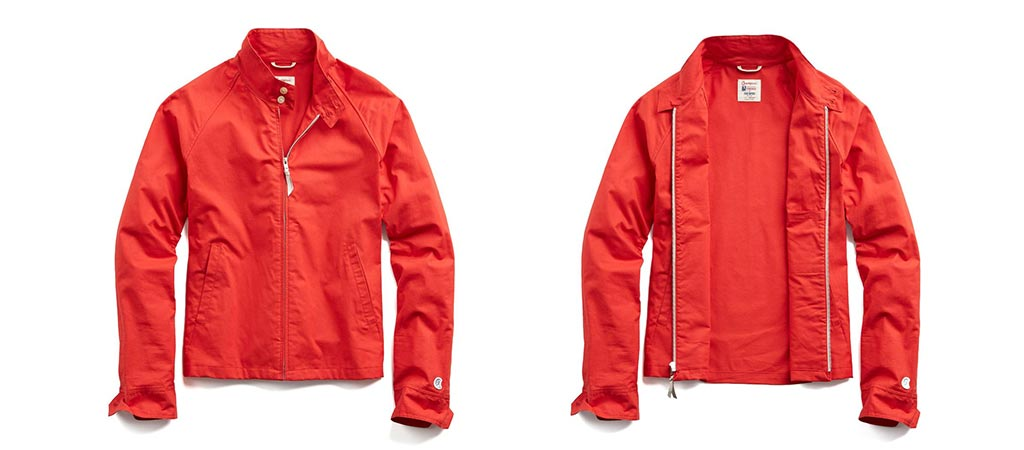 Todd Snyder & Champion The Harrington Jacket In Red