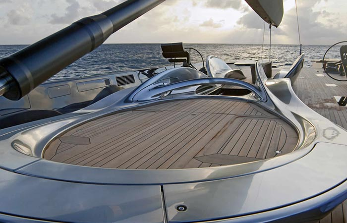 Deck of the Angel's Share Luxury Superyacht