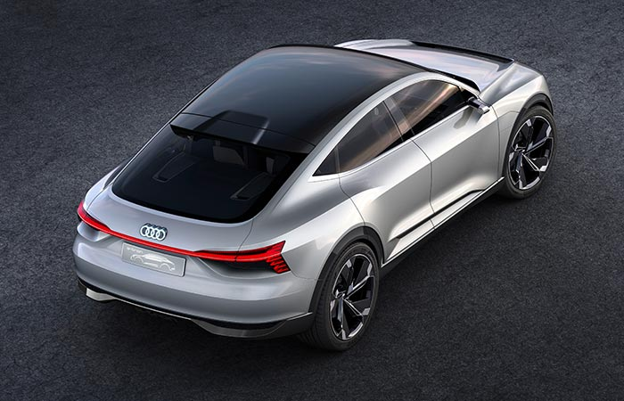 Top view of the Audi E-Tron Sportback Concept