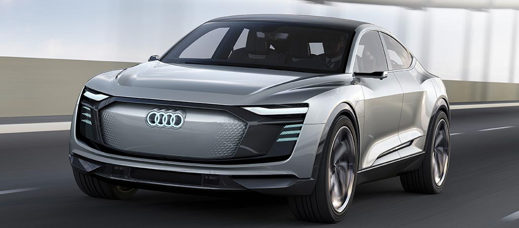 Front view of the Audi E-Tron Sportback Concept