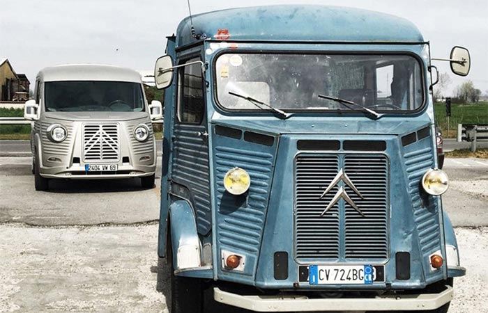 Old and new models of the Citroën Type H