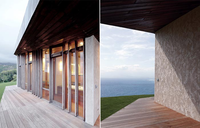 two images of Clifftop House Maui