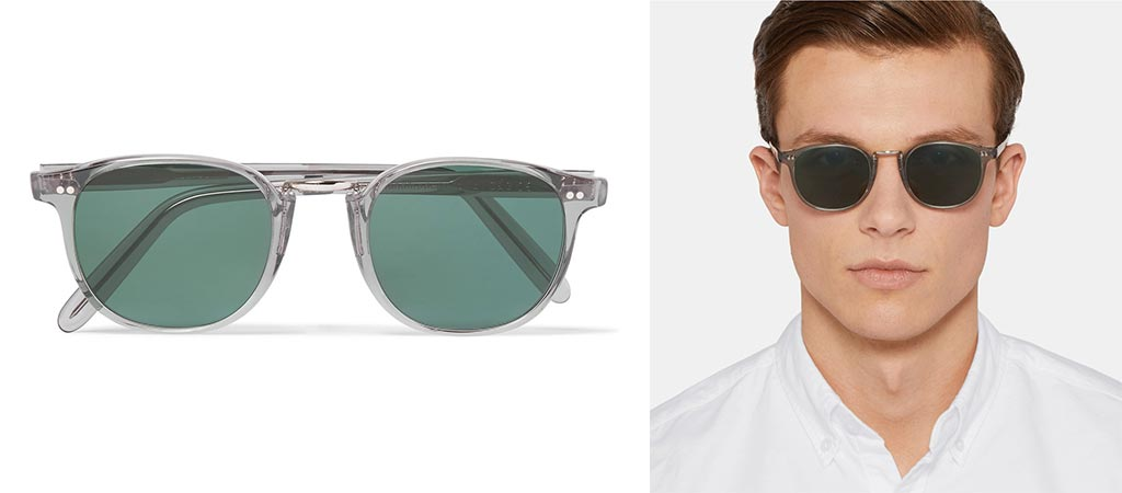 Man wearing the Culter & Gross Sunglasses and a picture of them by itself