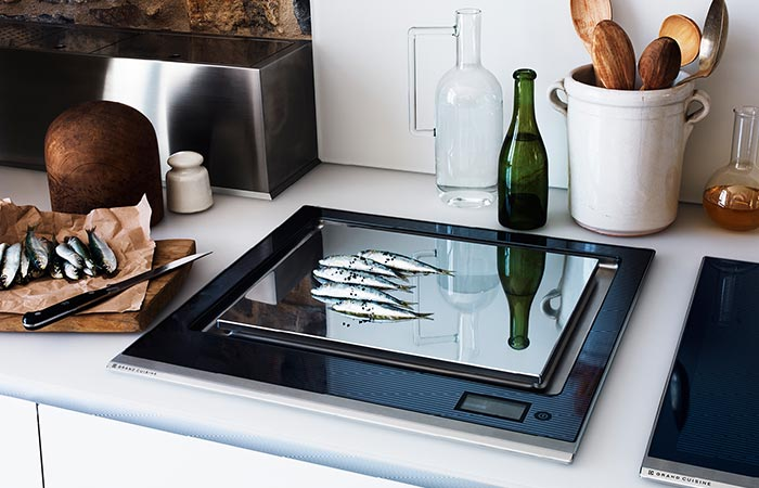 cooking fish on an iduction board
