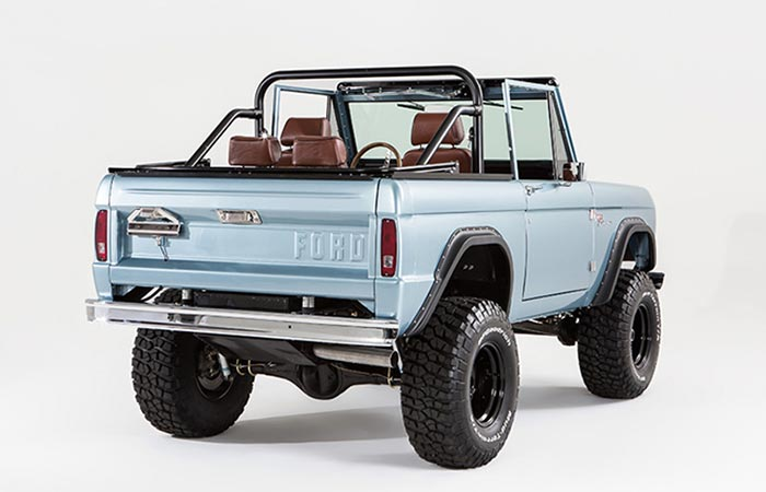 Rear view of the Ford Bronco