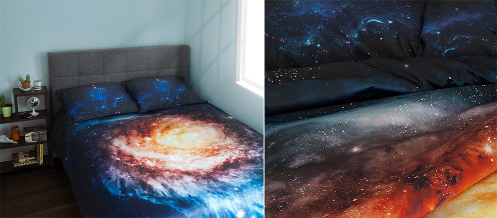 Galaxy Bedding Allows You To Sleep Under The Stars