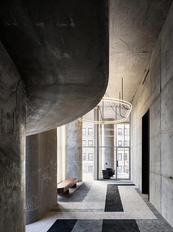 the interior of 56 Leonard building