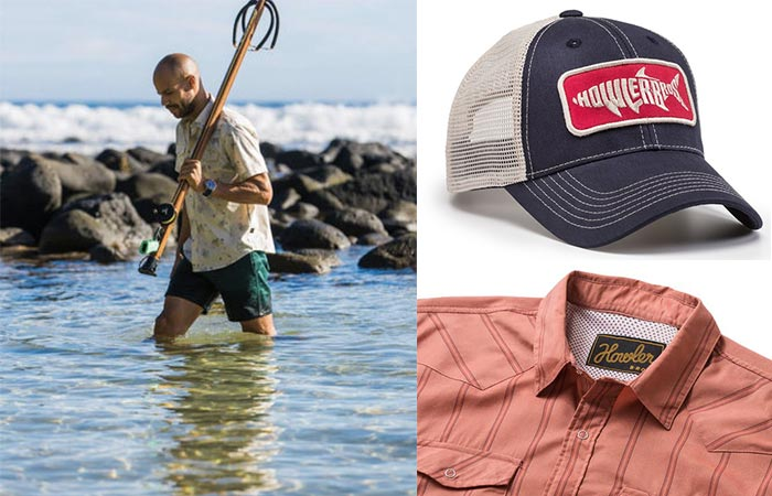 three images of Howler Brothers clothing items