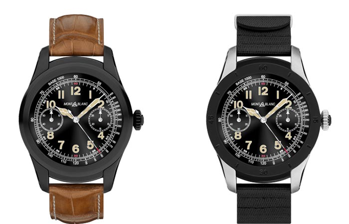 Two different versions of the Montblanc Summit Smartwatch