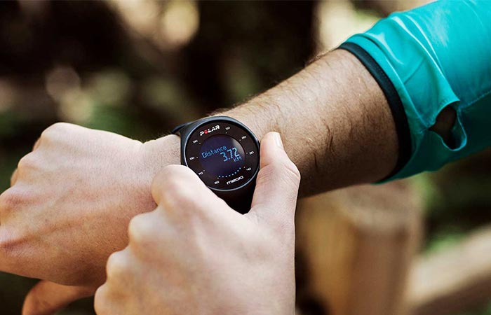 checking out Polar M200 GPS watch