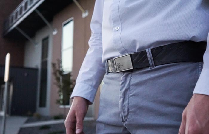 Man wearing the Revival Tire Belt