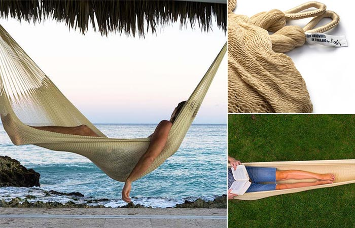 Three different views of the Weatherproof Big Sur Hammock