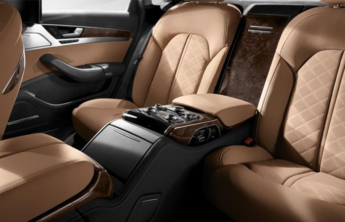 Audi A8 leather back seats